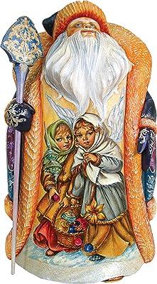 G. Debrekht Protecting Innocence Santa One-of-a-Kind Wood Carving