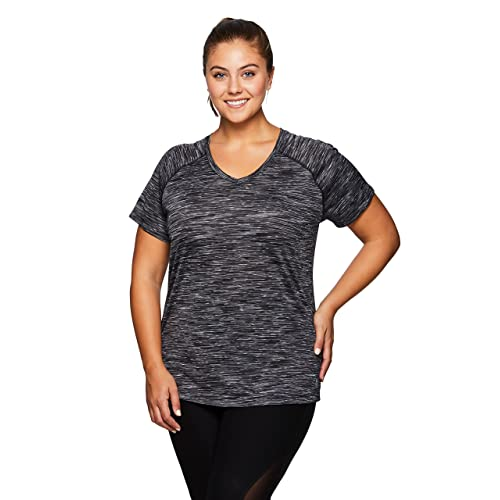99708afc352 RBX Active Women's Plus Size Yoga Workout Short Sleeve V-Neck Tee Shirt