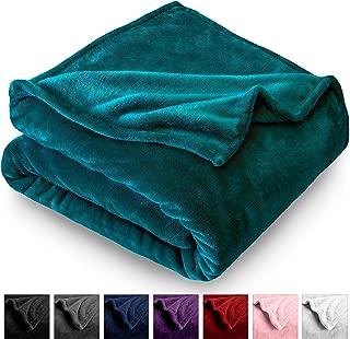 Bare Home Microplush Velvet Fleece Blanket - Full/Queen - Ultra-Soft - Luxurious Fuzzy Fleece Fur - Cozy Lightweight - Easy Care - All Season Premium Bed Blanket (Full/Queen, Emerald)