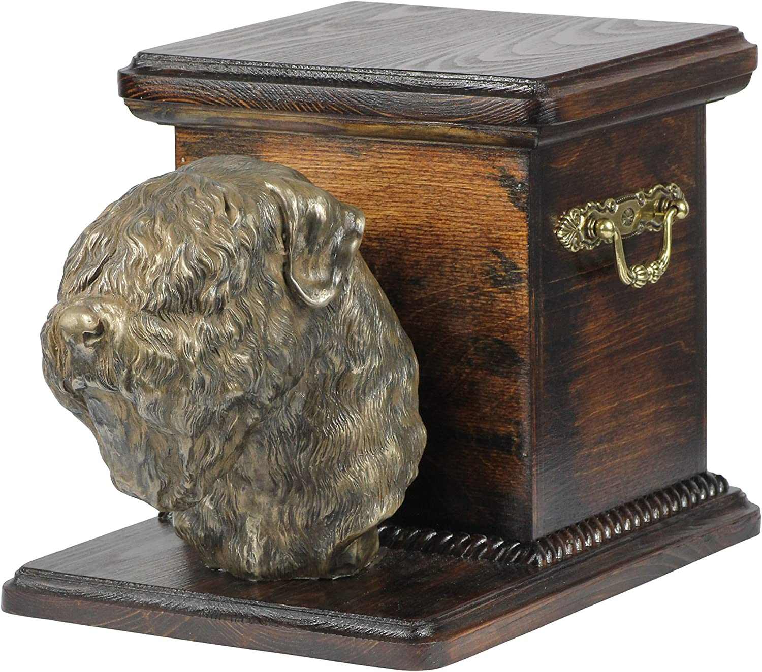 Black Russian Terrier, memorial, urn for dog's ashes, with dog statue, ArtDog