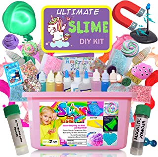 Ultimate Unicorn Slime Kit for Girls - Best Value Unicorn DIY Slime Supplies Kits for Making Tons of Various Fail-Proof Slimes - Perfect Birthday Toys Gifts for 7 8 9 10 11 12 Year Old Girls