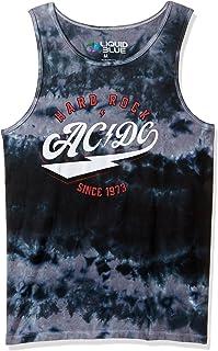 تيشيرت رجالي بدون أكمام مطبوع عليه صورة AC/dc Hard Rock من Liquid Blue