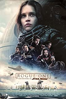 ROGUE ONE: A STAR WARS STORY (2016) Original Authentic Movie Poster 27x40 - Dbl-Sided - FRENCH VERSION - FINAL - Felicity Jones - Diego Luna - Alan Tudyk - Donnie Yen