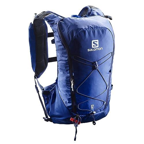 Salomon Agile 12 Set, Mochila de Running para Adulto, Unisex, Azul (Surf