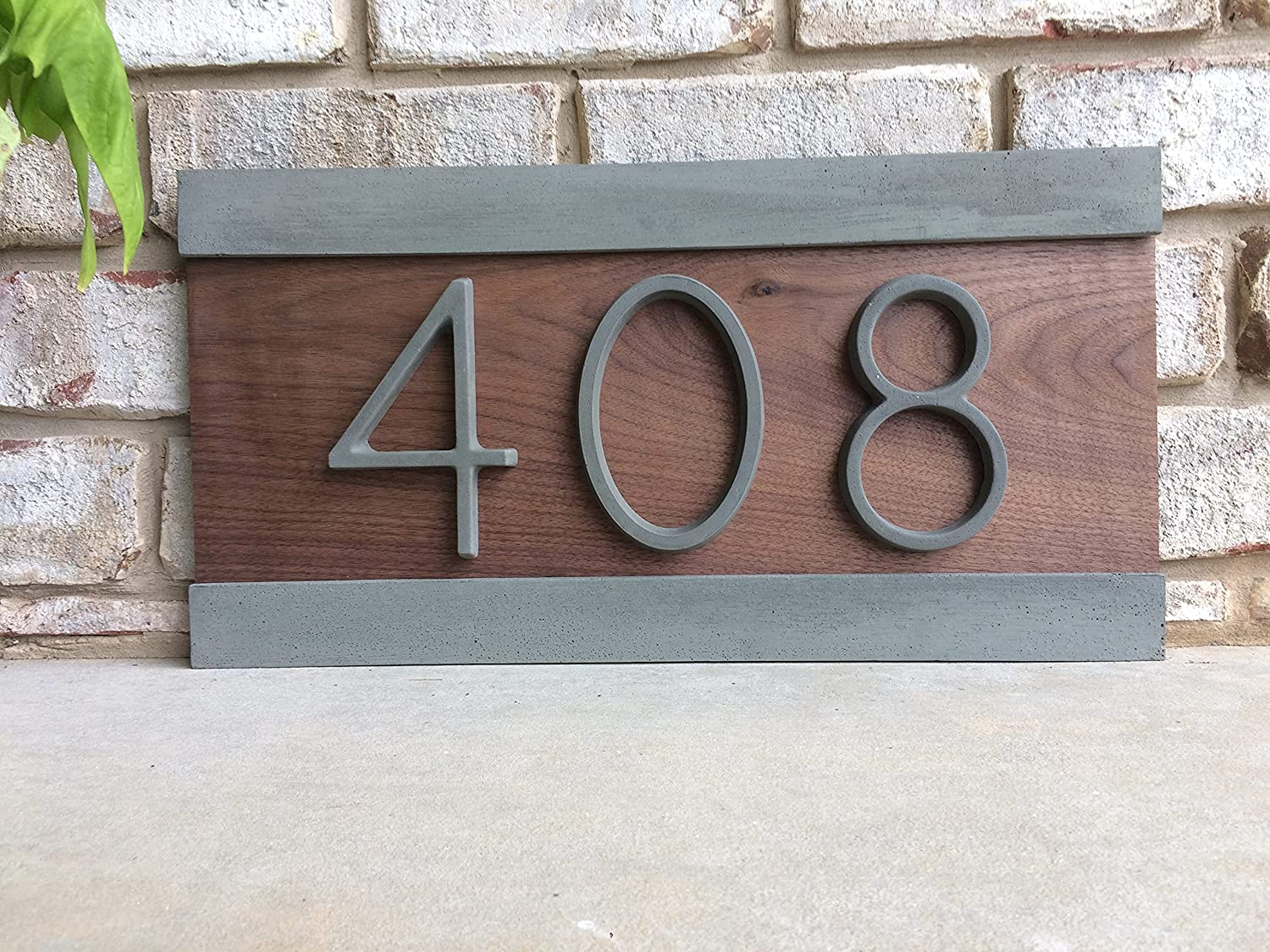 Super Special SALE held Modern House Numbers Sign Concre Wood and Manufacturer OFFicial shop