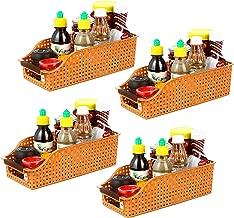 INOVERA (LABEL) Fridge Space Saver Food Storage Organiser Basket Kitchen Rack(Set of 4), 29L x 12.5B x 9H cm.
