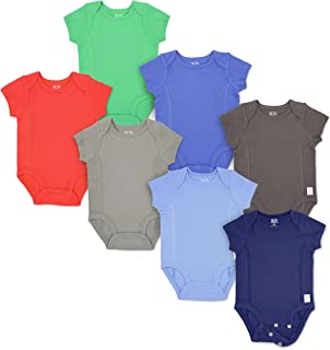 Baby 7-Pack Short-Sleeve Grow & Fit Cotton Stretch Bodysuits - Unisex, Girls, Boys