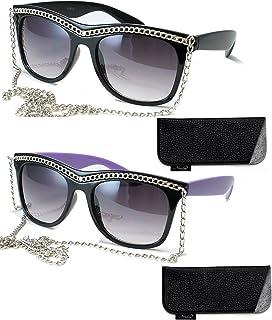 678b6490cefa Retro Chain Sunglasses Plastic Sunglasses with Chain Design Vintage  Sunglasses