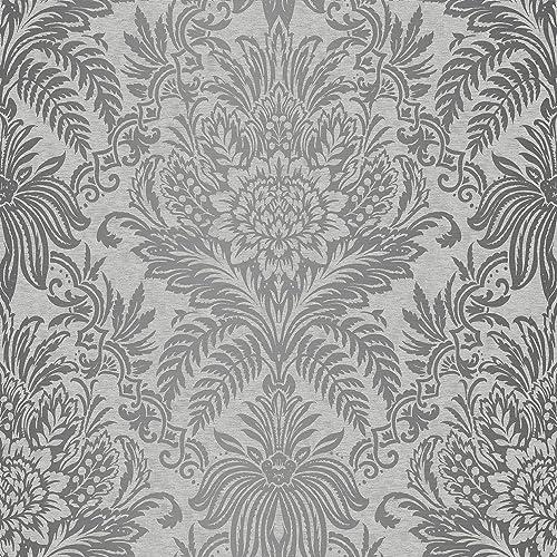Silver Grey Wallpaper Amazoncouk