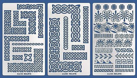 Wall Stencil Flora 231 Ornamente Vorlagen Ornamente Vorlagen 4