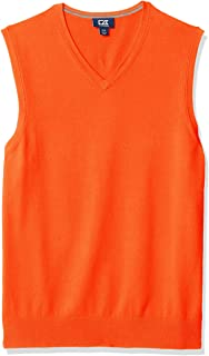 Cutter Men's Cotton-Rich Lakemont Anti-Pilling V-Neck Sweater Vest