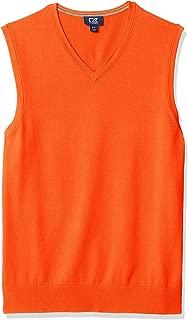 Cutter Men's Cotton-Rich Lakemont Anti-Pilling V-Neck Sweater Vest
