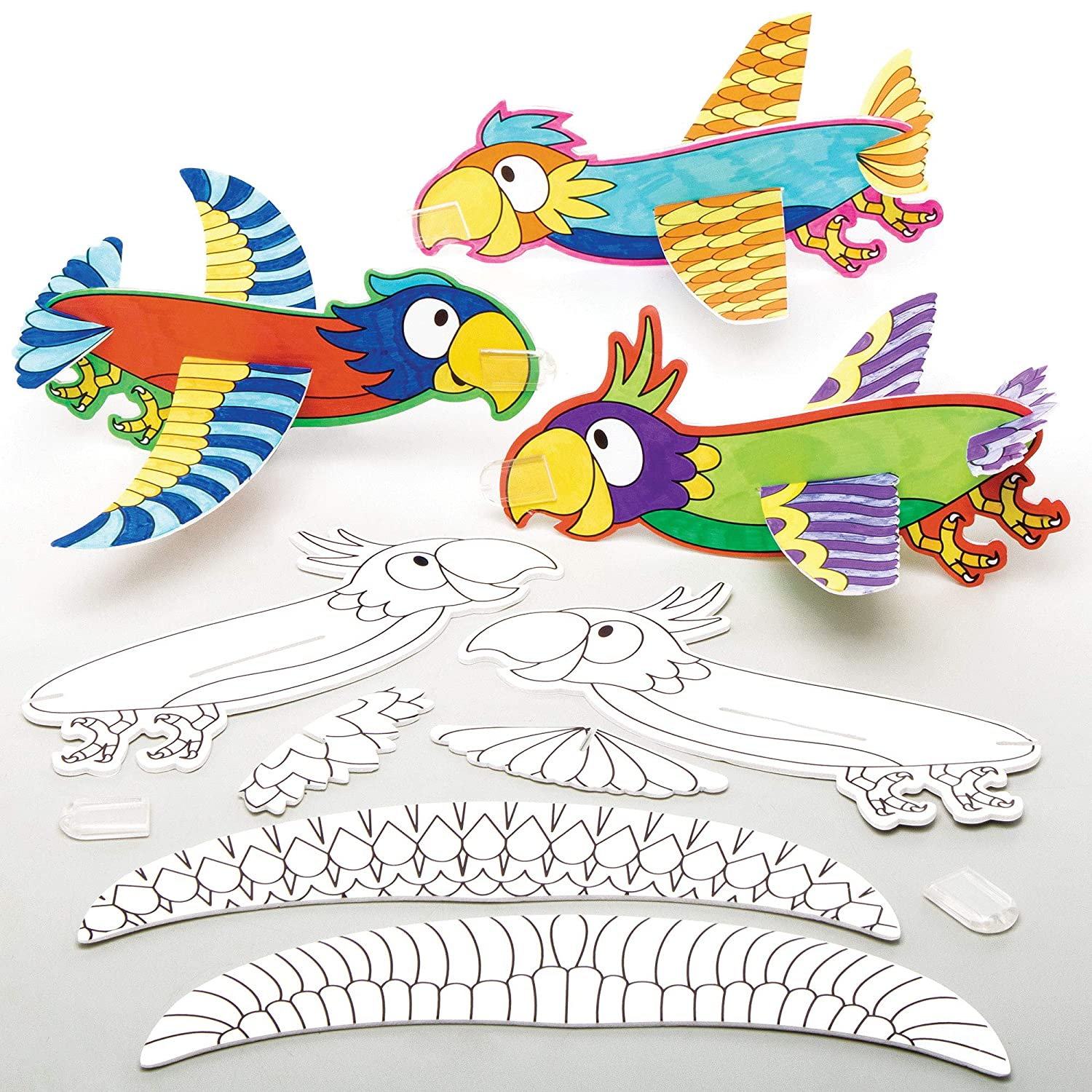 Baker Ross AT686 San Francisco Mall Decorate Your Own Color - Max 62% OFF Glider Parrot in Kits