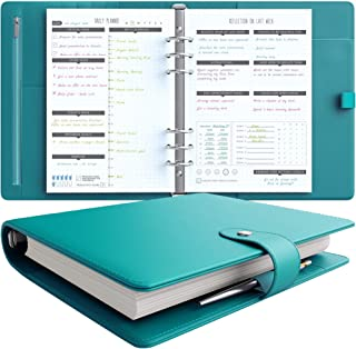 LUX Productivity PRO A5 Planner – Best Undated Diary Task Organizer with Daily Schedule & Reflection Journal - (Turquoise)