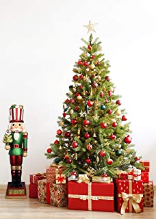 Fraser Hill Farm FFRS048-NC0-RD2 Indoor/Outdoor Oversized Christmas, 4-Ft. Candy-Look Nutcracker Greeter Holding Tree in Green Holiday Decoration, Color 2