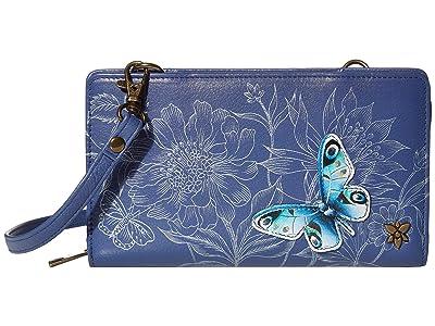 Anuschka Handbags Cell Phone Crossbody Wallet 1149 (Garden of Delights) Handbags