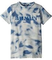 Balmain Kids - Short Sleeve Tie-Dye Logo Tee (Big Kids)