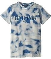 Balmain Kids - Short Sleeve Tie-Dye Logo Tee (Big Kids)