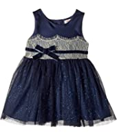 Nanette Lepore Kids - Shimmer Tulle Dress with Matte Satin and Metallic Lace Trim (Infant)