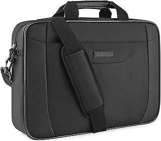 KROSER Laptop Bag 15.6 Inch Briefcase Laptop Shoulder Messenger Bag Water-Repellent Lightweight Urban Office Bag Bussiness Carrying Handbag School Computer Bag for Men/Women-Black