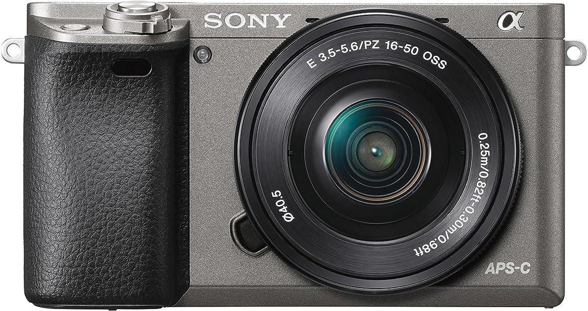 Sony Alpha 6000 - Cámara EVIL de 24.3 MP color negro y gris
