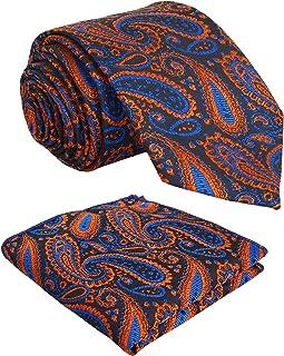 Sorella'z 男式超细纤维设计师派对服领带带方形口袋:2 件装