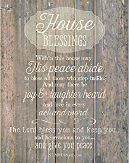 """House Blessing Wood Plaque Inspiring Quotes 11.75"""" x 15"""" - Classy Vertical Frame Wall Decoration 