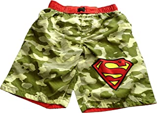 Superman Little Boys Cameo Swim Trunks Bathing Suit