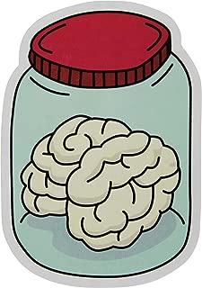 Brain In A Jar Stickers 2-Pack of Vinyl Decals Measuring 4