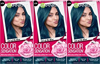 Garnier Hair Color Sensation Hair Cream, Out of the Blue, (Pack of 3)