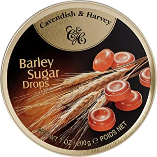 Retro Cavendish & Harvey Sweets 200g Tin (Barley Sugar Drops)