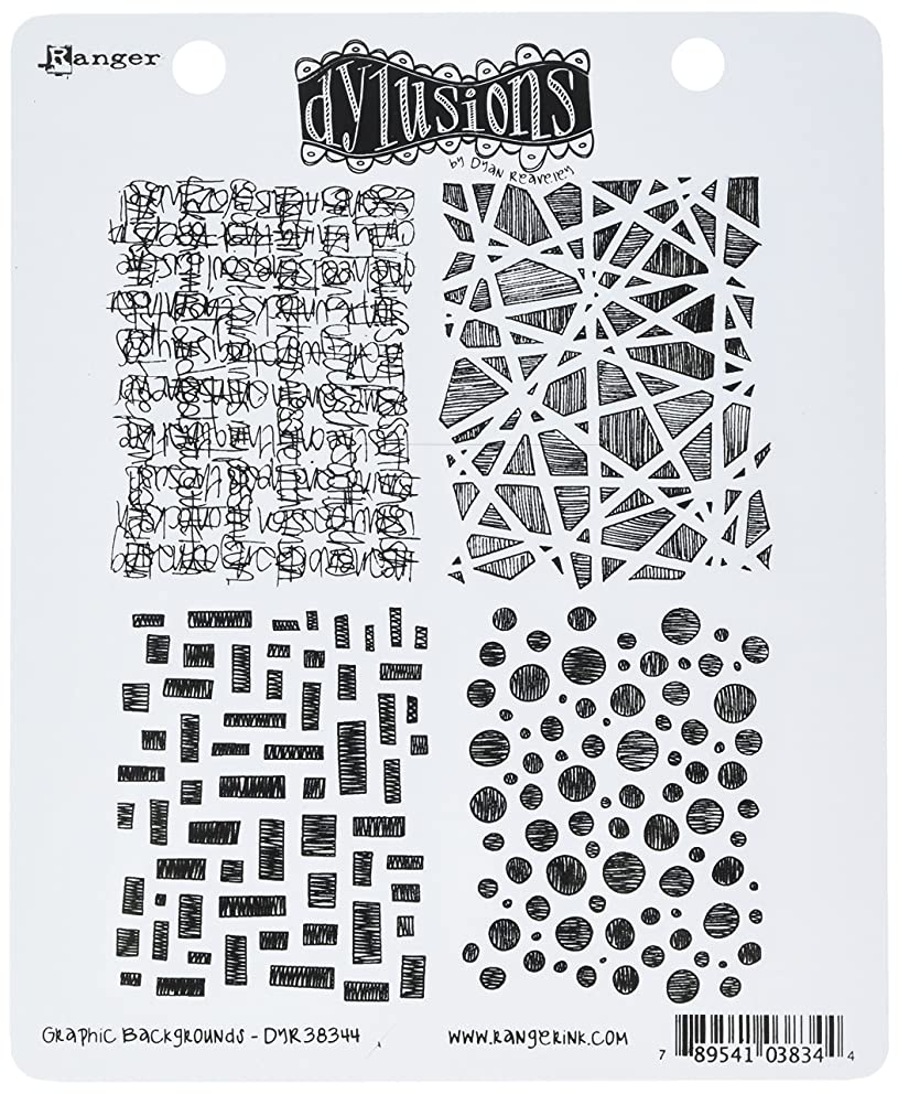 Ranger Dyan Reaveley's Dylusions Cling Stamp Collections, 8.5 by 7-Inch, Graphic Backgrounds