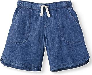 WONDER Nation Big Girls Bermuda Pull On Shorts (Denim Chambray, X-Small 4/5)