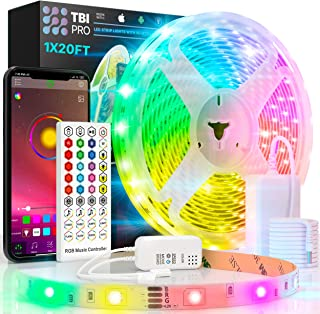 TBI Pro 32.8ft 300LEDs SMD 5050 RGB، 44 Control Remote Controller Keyboard Upgraded 2019 LED Light Strip Lets، 2-Pack x 5M w / Extra Adhestion 3M Tape، Multi Color تغییر در انعطاف پذیر برای تلویزیون ، اتاق
