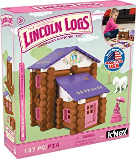 LINCOLN LOGS – Country Meadow Cottage – 137 Pieces – Ages 3+ Preschool Education Toy
