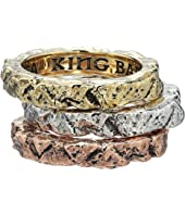 King Baby Studio - Temple Ruin Multicolored Tri Stack Ring