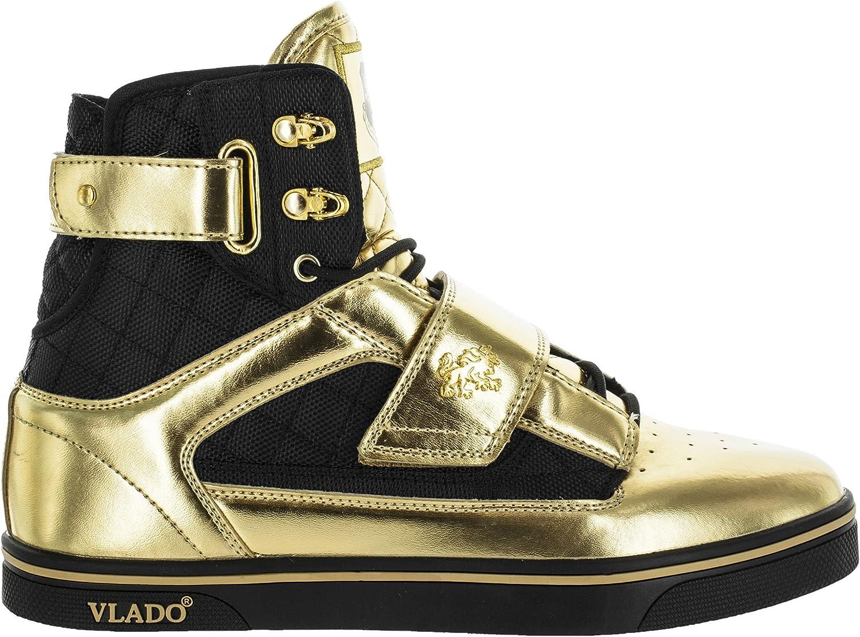 Vlado Footwear Men's Atlas Metallic PU Leather High Top Sneaker