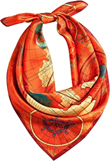 Pure Real Silk Scarf for Hair Small 25 Square 100 Mulberry Silk Designer Head Scarf Women