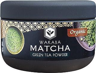Polvo de matcha orgánico prémium de 30 g - Producido por Matcha Café Wakaba - Auténtico matcha orgánico (DE-ÖKO-013) - Sin aditivos - Perfecto para un batido de té helado con leche