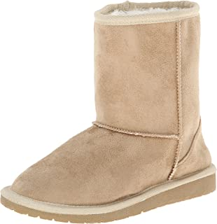 DAWGS Baby 6 Inch Faux Shearling Microfiber, Natural, 7 M US Toddler