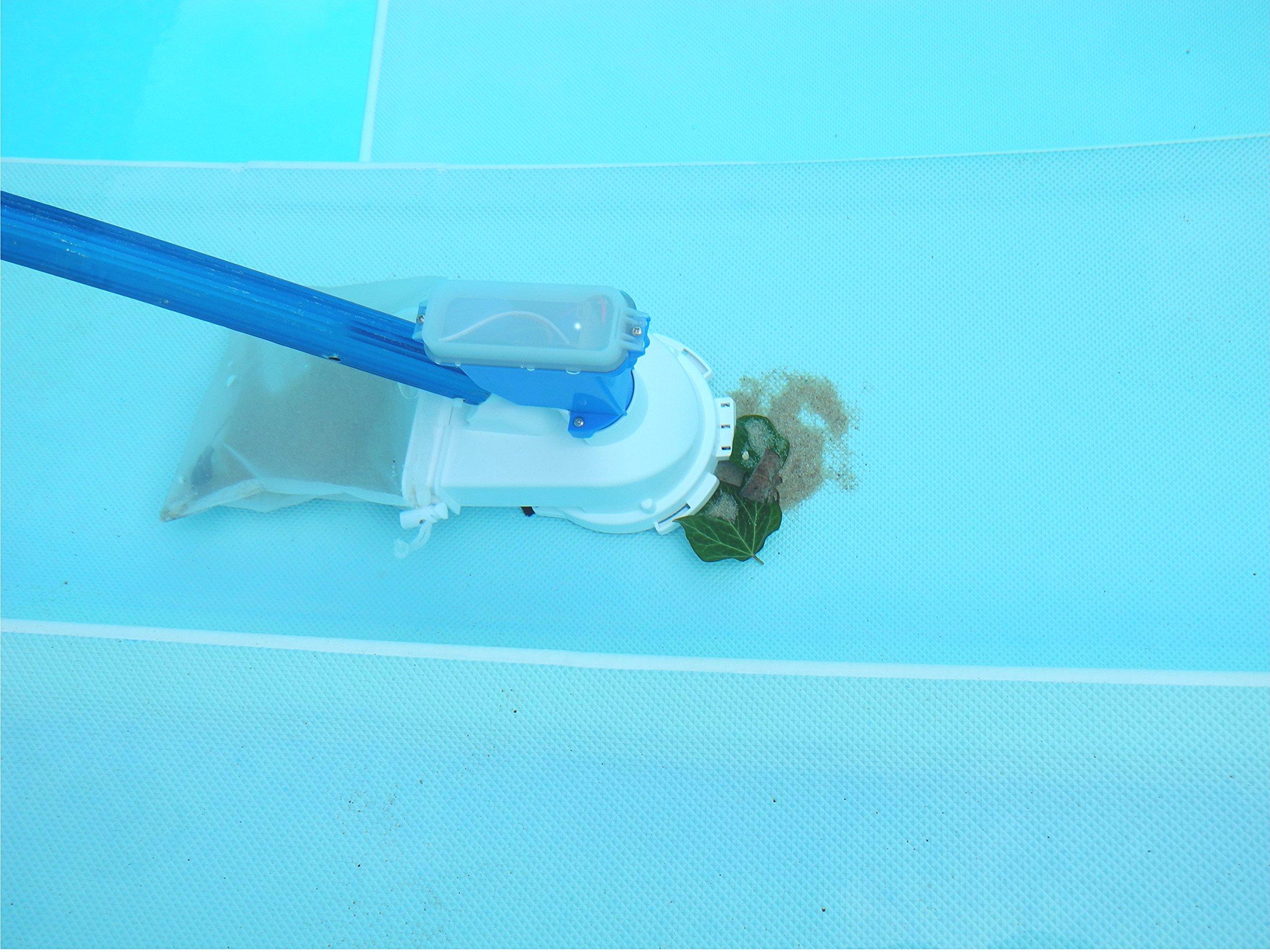 Limpiafondos manual para piscinas con batería litio recargable ...