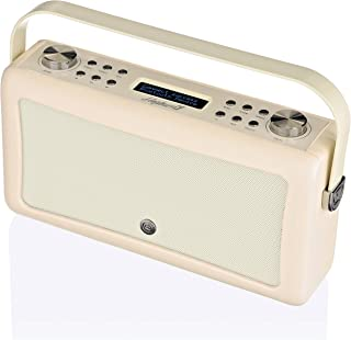 VQ Hepburn Mk II DAB & DAB+ Digital Radio with FM, Bluetooth & Alarm Clock - Cream