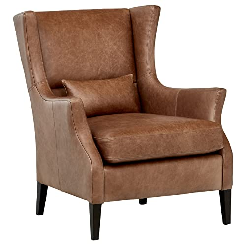Leather Wingback Chair Amazon Com