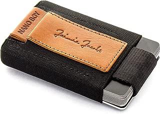 JAIMIE JACOBS Mini Wallet Nano Boy Minimalistic Slim Wallet Thin Credit Card Holder Men (Cognac)
