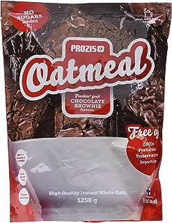 Prozis Oatmeal 1250g - Cereales Repletos de Proteínas, Hidratos de Carbono de Alta Calidad y Fibras Saciantes - Sabor Brownie de Chocolate - Apto para Vegetarianos - Cardiosaludable - 12 Dosis