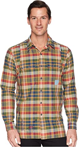 Madras Compass Long Sleeve Sport Shirt