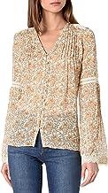 """PAIGE Women's Clio Blouse, Desert Sunrise Hoxton Straight Ankle 27"""" l"""