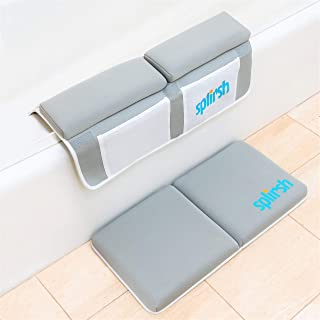 Baby Bath Kneeler and Elbow Rest by Splirsh, Knee Pad and Elbow Tub Rest, Infant Bath Toys Accessories and Stuff Organizer, Design Fit for Boys and Girls, Bathtub Comfort, Newborn Essentials and Gifts