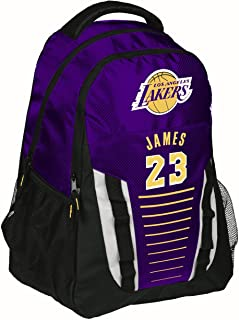 FOCO Los Angeles Lakers Franchise Backpack Gym Bag - Lebron James #23