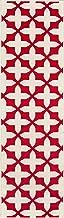 "Momeni Rugs BAJA0BAJ12RED2376 Baja Collection Contemporary Indoor & Outdoor Area Rug, 2'3"" x 7'6"", Red"
